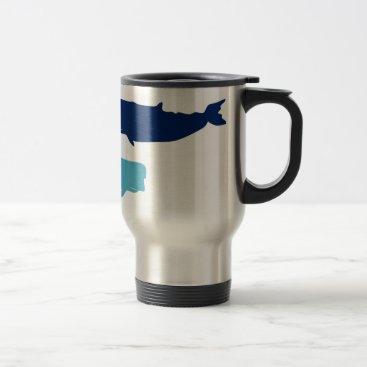 Beach Themed Whales Travel Mug