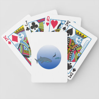 Whalesharks and Free Diver Bicycle Playing Cards
