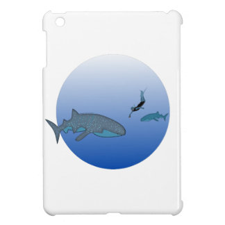 Whalesharks and Free Diver iPad Mini Cover
