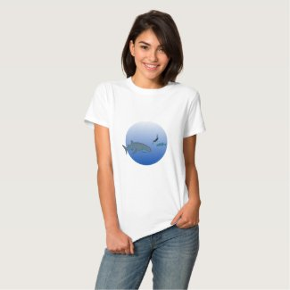 Whalesharks and Free Diver Tee Shirt