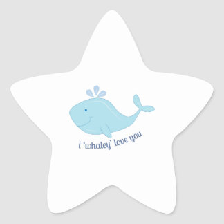 Whaley Love You Star Sticker