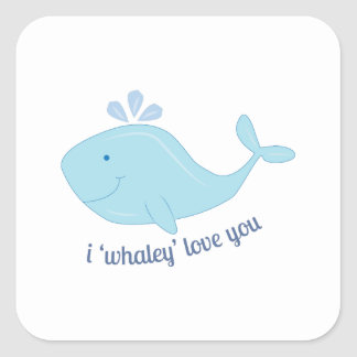 Whaley Love You Square Stickers