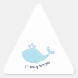 Whaley Love You Triangle Sticker