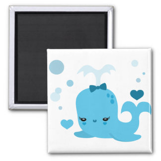 Whalin' Out 2 Inch Square Magnet