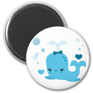 Whalin' Out 2 Inch Round Magnet