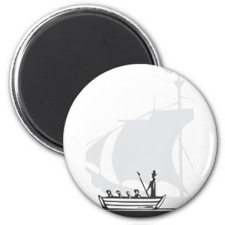 Whaling Boat Magnet