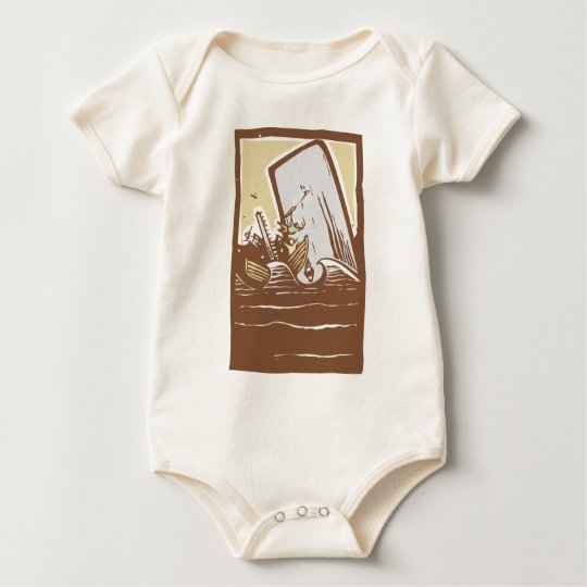 Whaling Trouble Color Baby Bodysuit