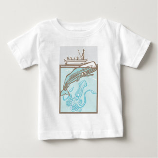 Whaling with Squid Baby T-Shirt