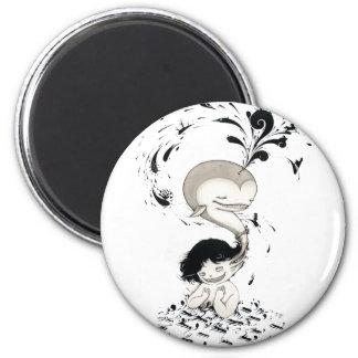 """Whalless"" Yan Wei | 闫威 2 Inch Round Magnet"