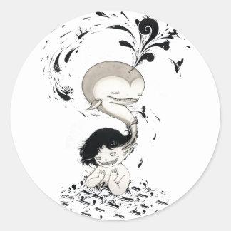 """Whalless"" Yan Wei | 闫威 Classic Round Sticker"