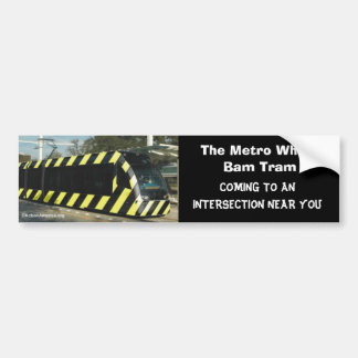 Wham Bam Tram Bumper Sticker