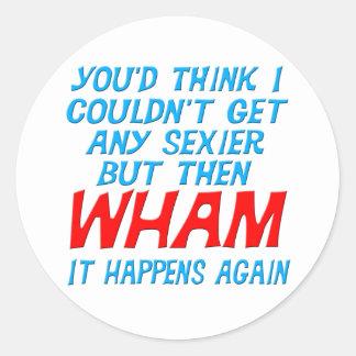 Wham conseguí a un pegatina más atractivo