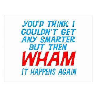 Wham I Got Smarter Postcard