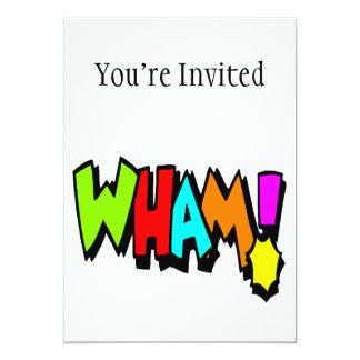 """¡Wham! Invitación 5"""" X 7"""""""