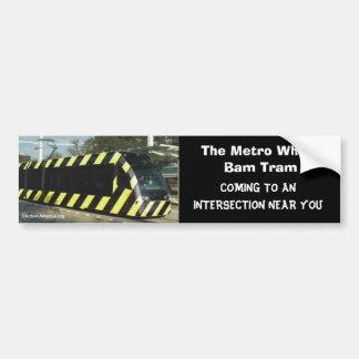 Wham la tranvía del Bam Pegatina Para Auto
