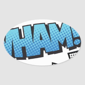 wham oval sticker