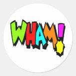 ¡Wham! Pegatina Redonda