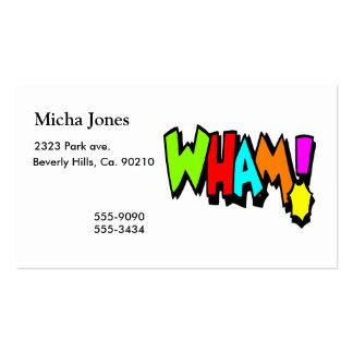 ¡Wham! Tarjetas De Visita