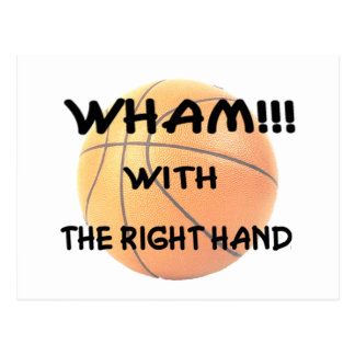Wham with the right hand (wh) postcard
