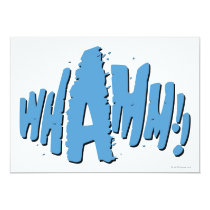 invitations, whamm, batman, bat man, 1966 batman, 60's batman, batman action callout, action words, fighting sound effect words, punching sounds, adam west, burt ward, batman tv show, batman cartoon graphics, super hero, classic tv show, Invitation with custom graphic design