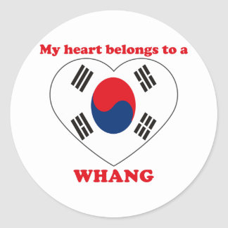 Whang Round Stickers
