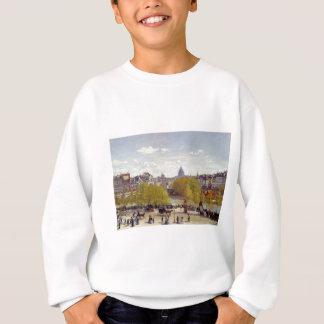 Wharf of Louvre, Paris by Claude Monet Sweatshirt