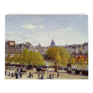 Wharf of Louvre, Paris - Claude Monet Calendar