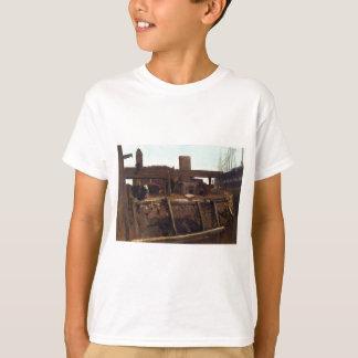 Wharf Scene by Albert Bierstadt T-Shirt
