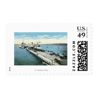 Wharf View at the New Harbor Stamp