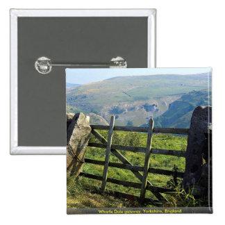 Wharfe Dale gateway, Yorkshire, England Pinback Buttons