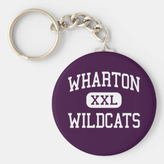 Wharton - Wildcats - High School - Tampa Florida Keychain