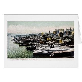 Wharves from the Brooklyn Bridge, New York City Card