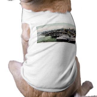 Wharves from the Brooklyn Bridge, New York City Doggie Tshirt