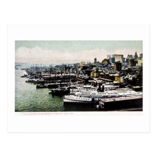 Wharves from the Brooklyn Bridge, New York City Postcard