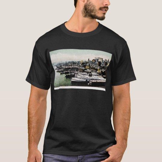 Wharves from the Brooklyn Bridge, New York City T-Shirt