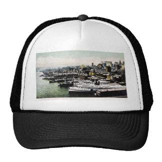 Wharves from the Brooklyn Bridge, New York City Trucker Hat