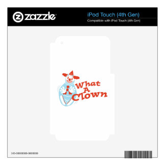What A Clown Decal For iPod Touch 4G