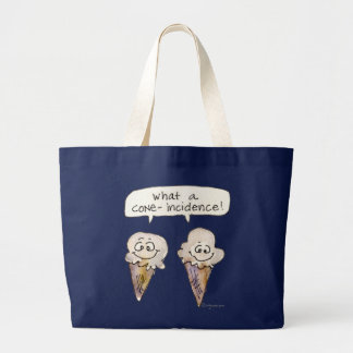 What a Cone-incidence Ice Cream Cones Large Tote Bag