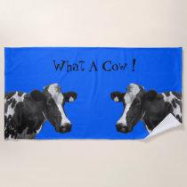 What A Cow Beach Towel