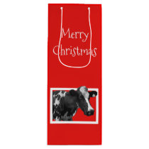 What A Cow - Merry Christmas Wine Gift Bag