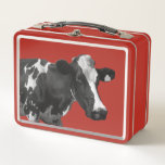 """What A Cow Metal Lunch Box<br><div class=""""desc"""">Photo of Black &amp; White Cow taken in Jamberoo NSW</div>"""