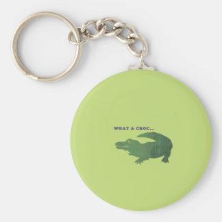 What a croc... basic round button keychain