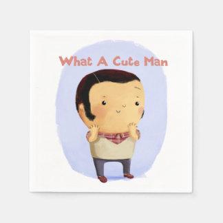 What a Cute Man... Paper Napkin
