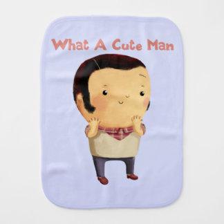 What a Cute Man... Baby Burp Cloth