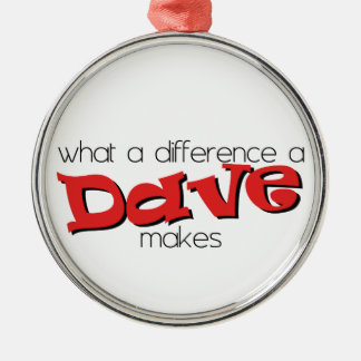 What a difference a Dave makes. Metal Ornament
