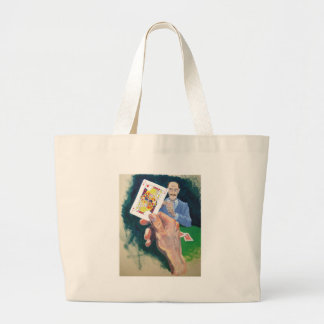 What a dirty trick large tote bag