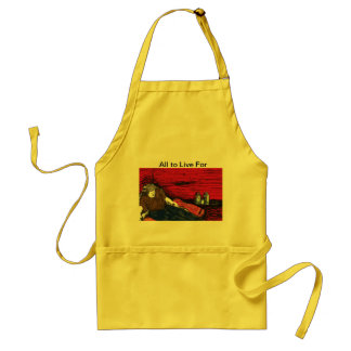 What! A drunk cook! Nooo, yes a talk piece. Adult Apron