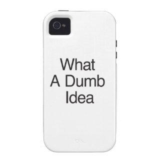 What A Dumb Idea iPhone 4/4S Cases