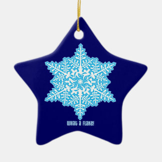What A Flake Double-Sided Star Ceramic Christmas Ornament