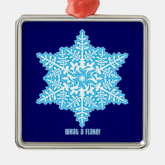 What A Flake Square Metal Christmas Ornament